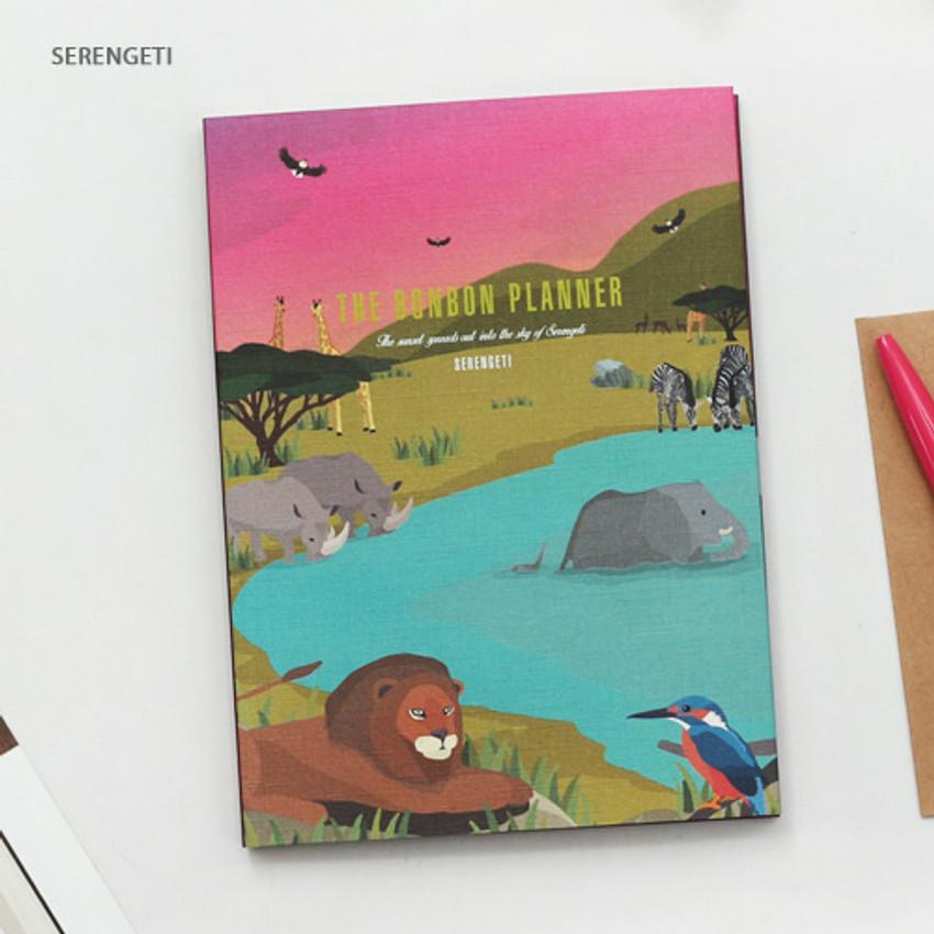Serengeti - Bon Bon small undated monthly planner