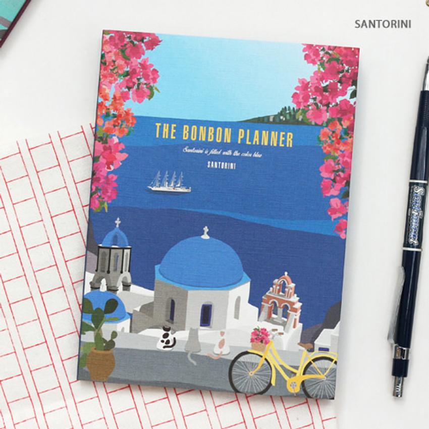 Santorini - Monthly plan - Bon Bon small undated monthly