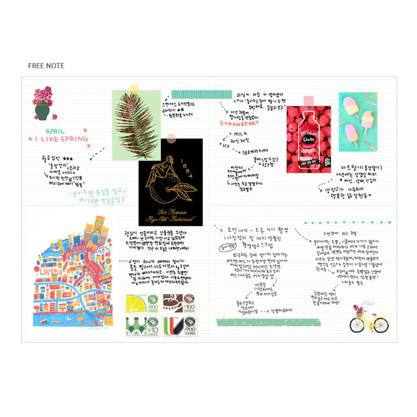 Free note - Bon Bon small undated monthly planner