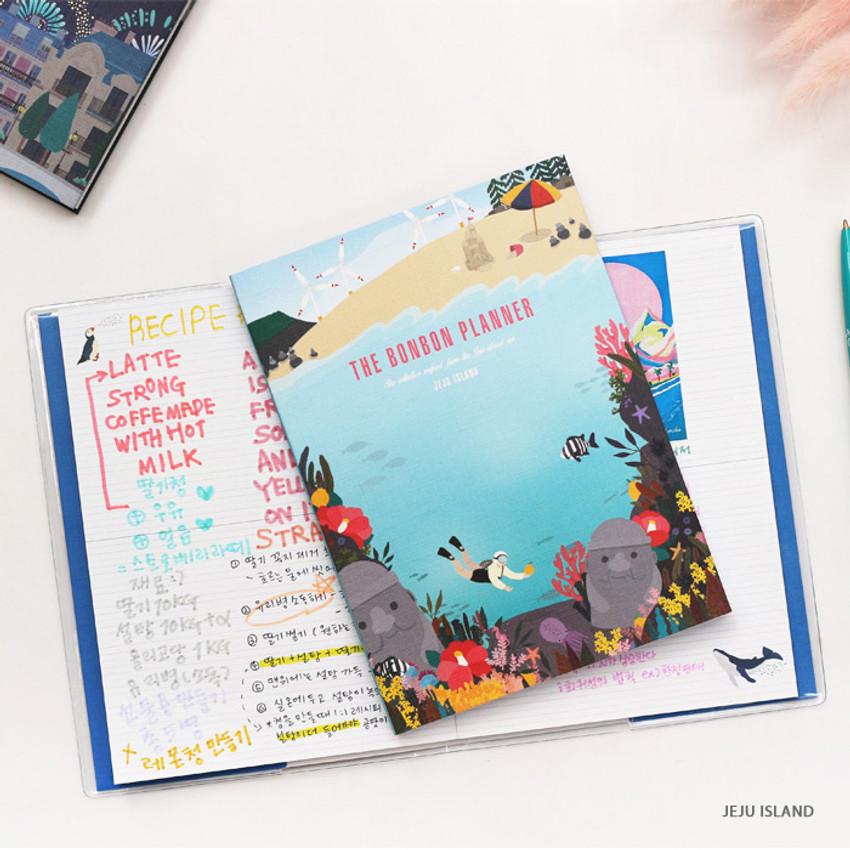 Jeju island - Bon Bon small undated monthly planner