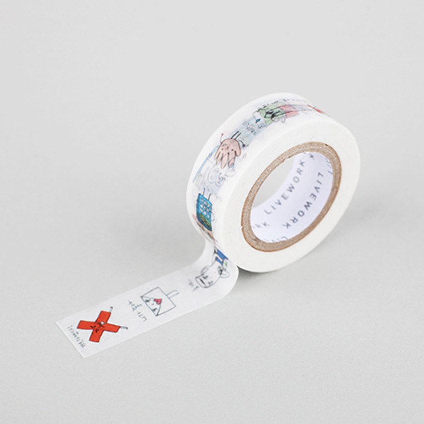 "Todac Todac funny 0.59""X11yd single deco masking tape"