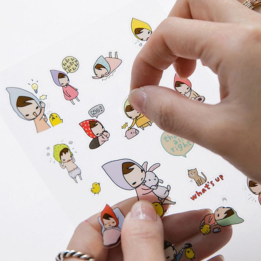 PONYBROWN My little friend cute illustration transparent sticker