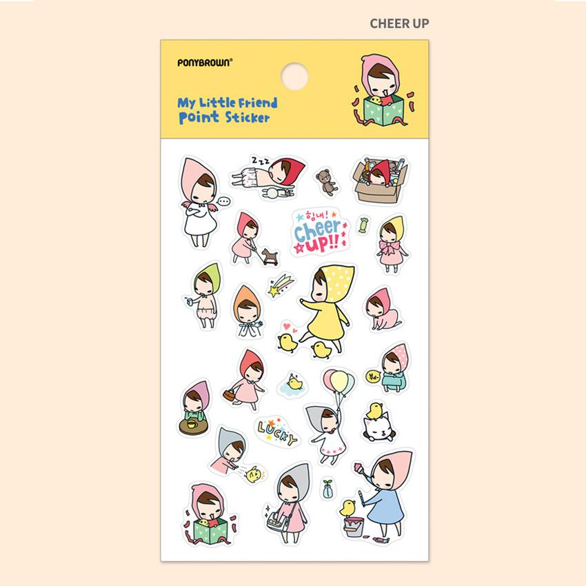 Cheer up - My little friend cute illustration transparent sticker
