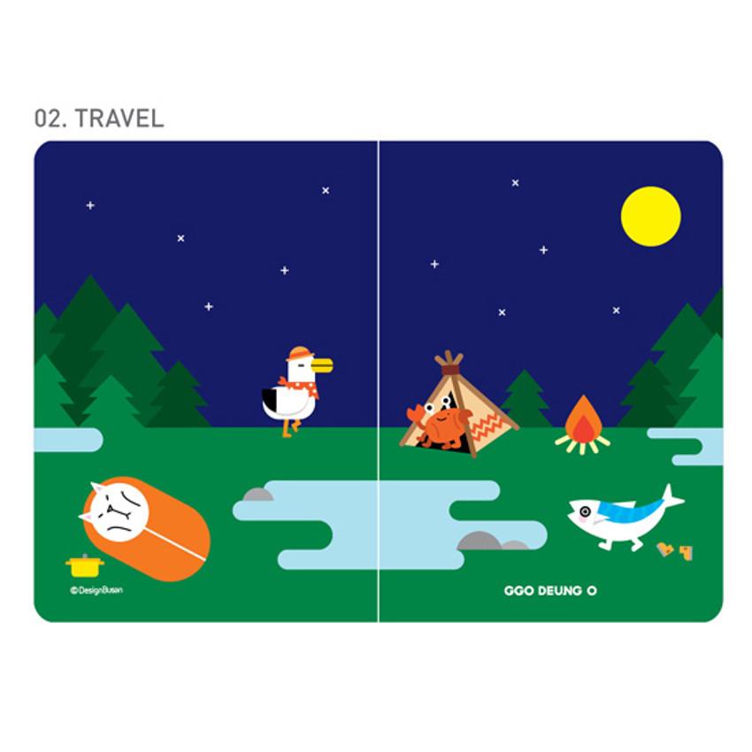 Travel - Ggo deung o RFID blocking passport case