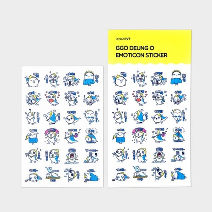 Ggo deung o emoticon clear deco sticker