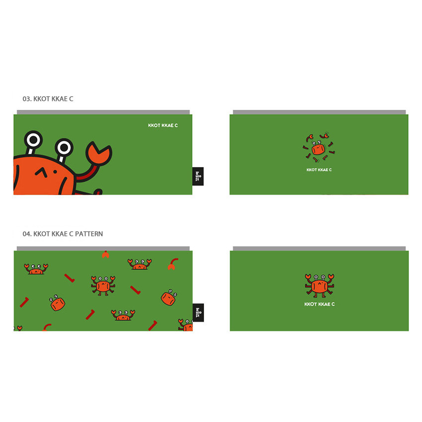 Kkot kkae c - Ggo deung o friends zipper pencil case