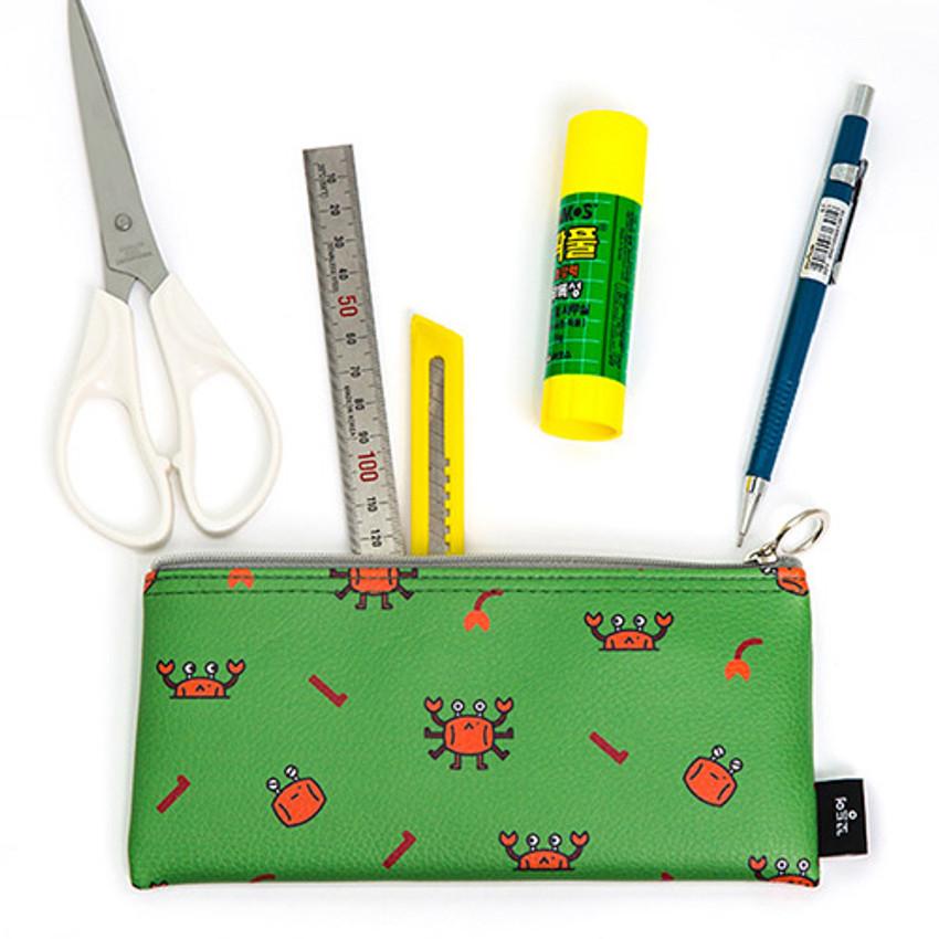 Ggo deung o friends zipper pencil case