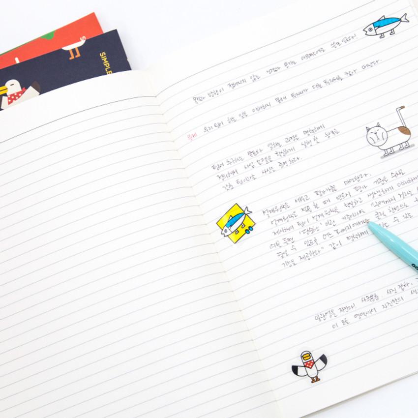 Ruled notebook - Ggo deung o friends lined notebook