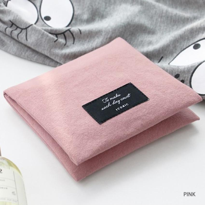 Pink - Plain secret daily cotton pouch
