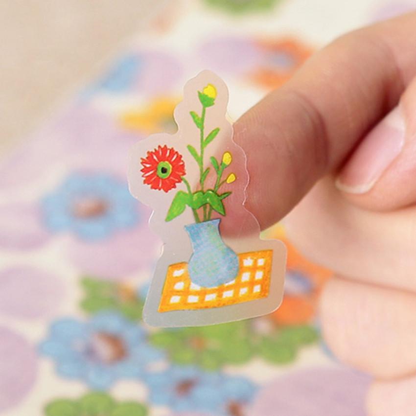 Clear sticker - Toffeenut friends transparent deco sticker - picnic