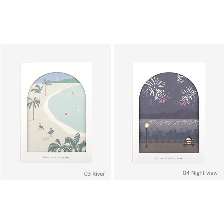 Option - Dailylike Window illustration message card with envelope