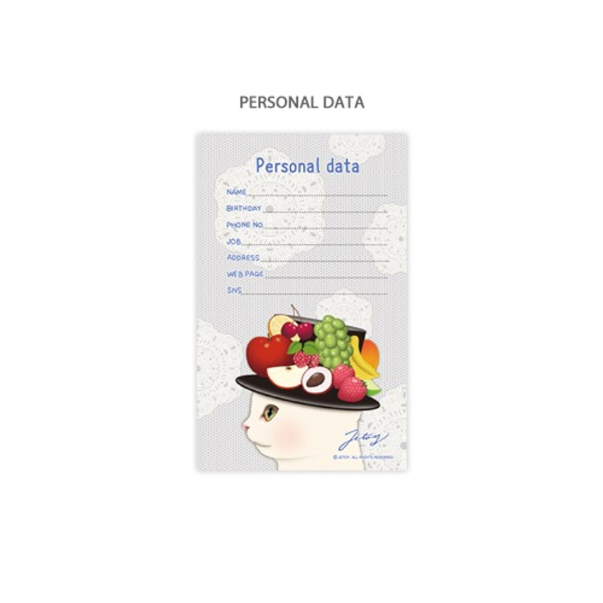 Personal data - Jetoy Choo choo cat fruits undated weekly diary planner