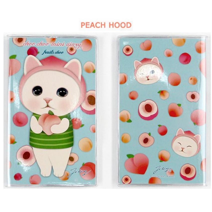 Peach hood - Jetoy Choo choo cat fruits undated weekly diary planner