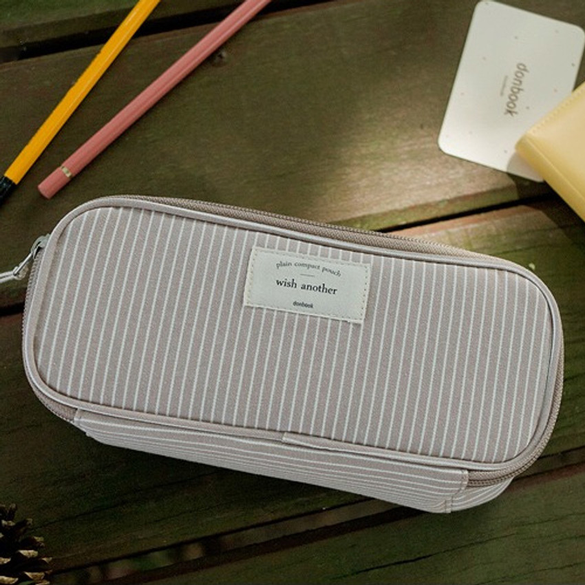 Donbook Wish another plain multi zip around large pouch