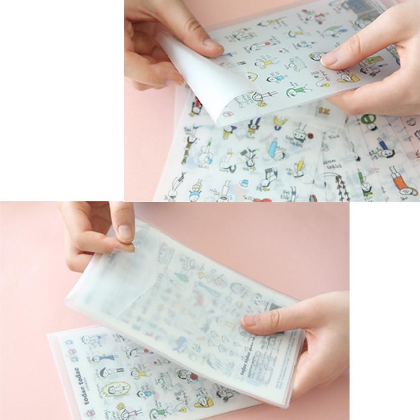 PVC pocket - Livework Todac Todac transparent clear deco sticker set ver3