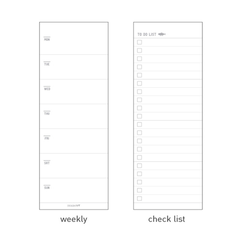 Composition - DESIGN IVY Ggo deung o spiral undated weekly desk scheduler note