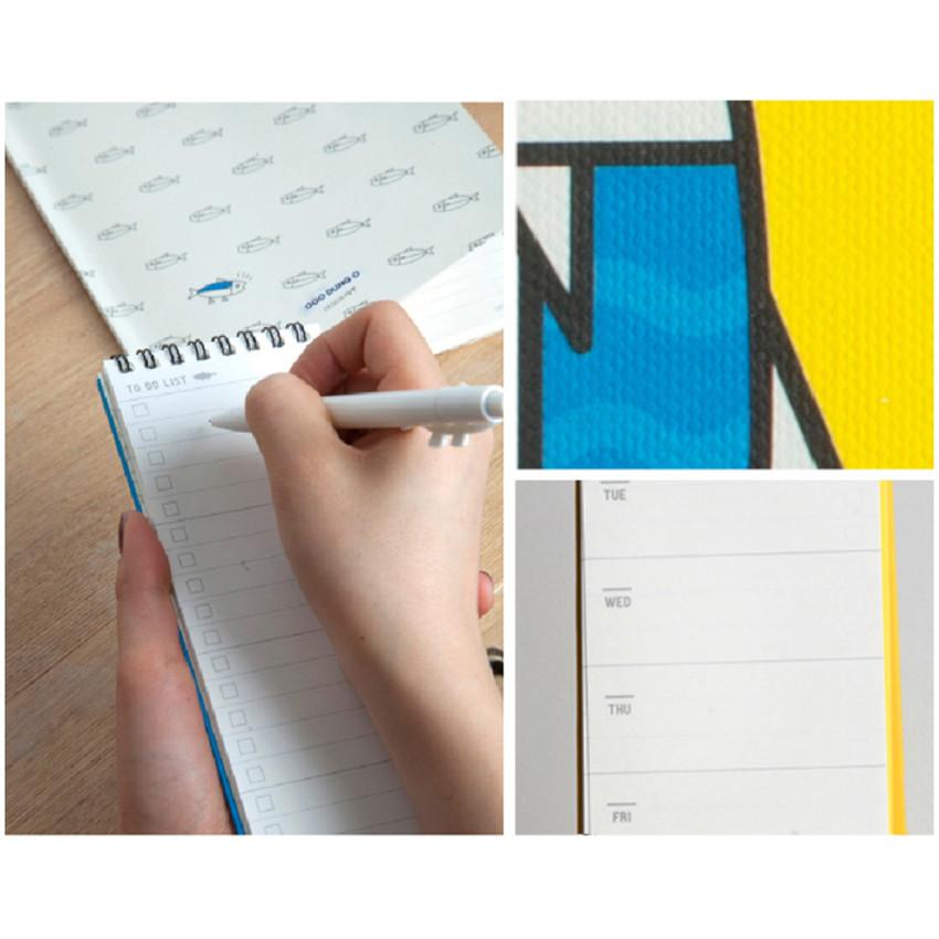DESIGN IVY Ggo deung o spiral undated weekly desk scheduler note