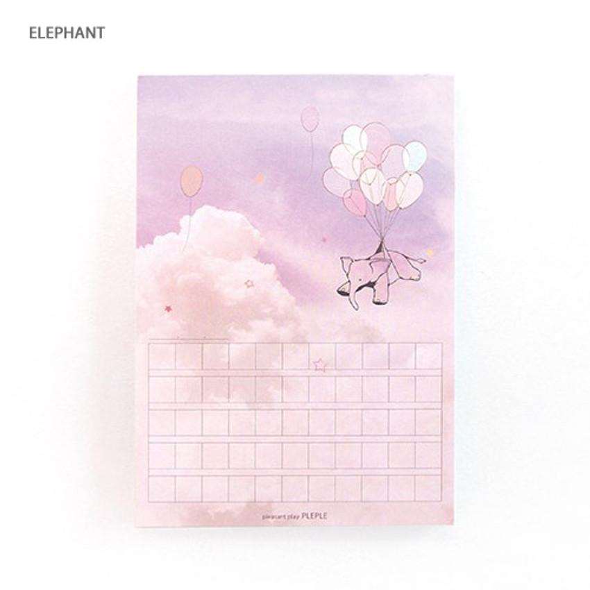 Elephant - Pleple My story photo squared manuscript memo notepad