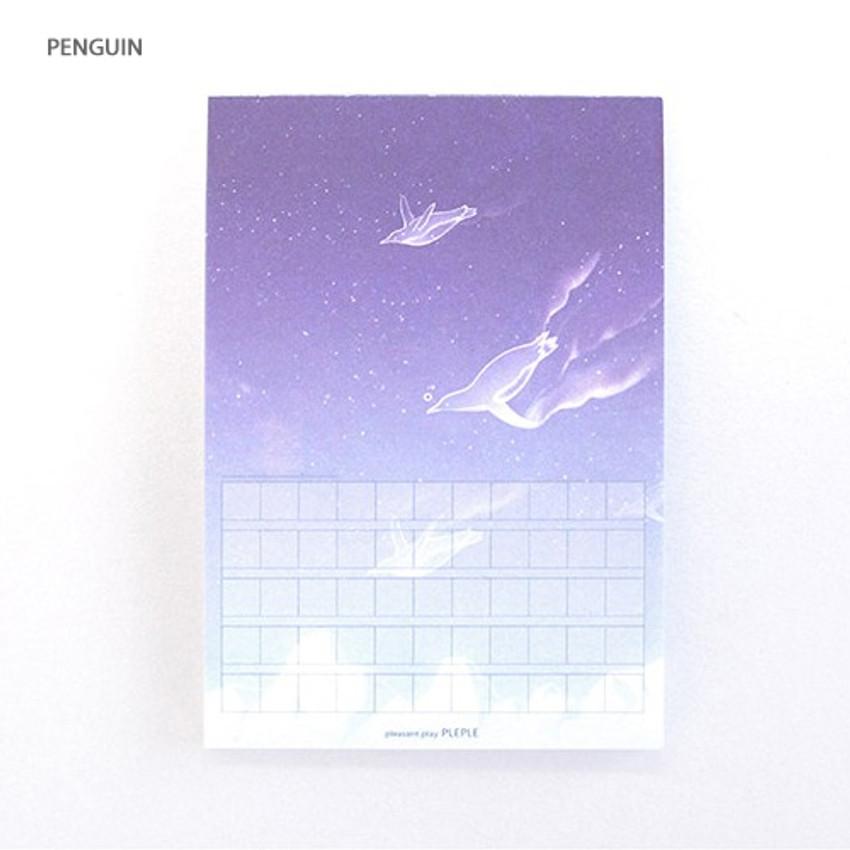 Penguin - Pleple My story photo squared manuscript memo notepad