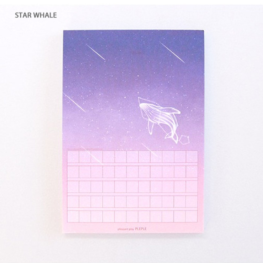 Star whale - Pleple My story photo squared manuscript memo notepad