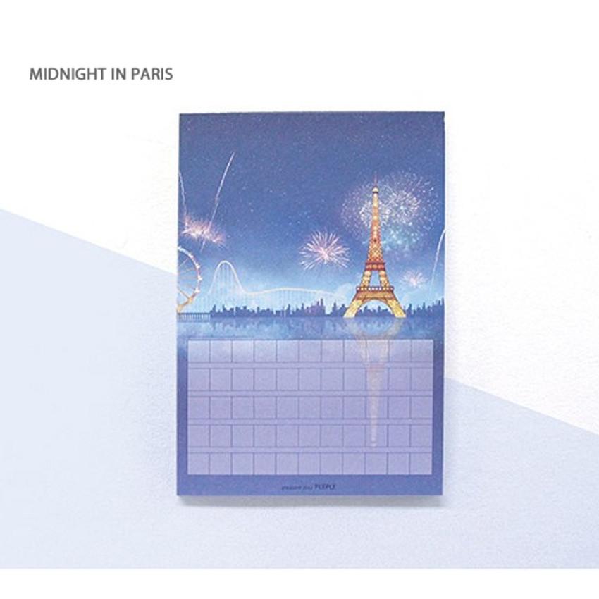 Midnight in paris - Pleple My story illustration squared manuscript memo notepad