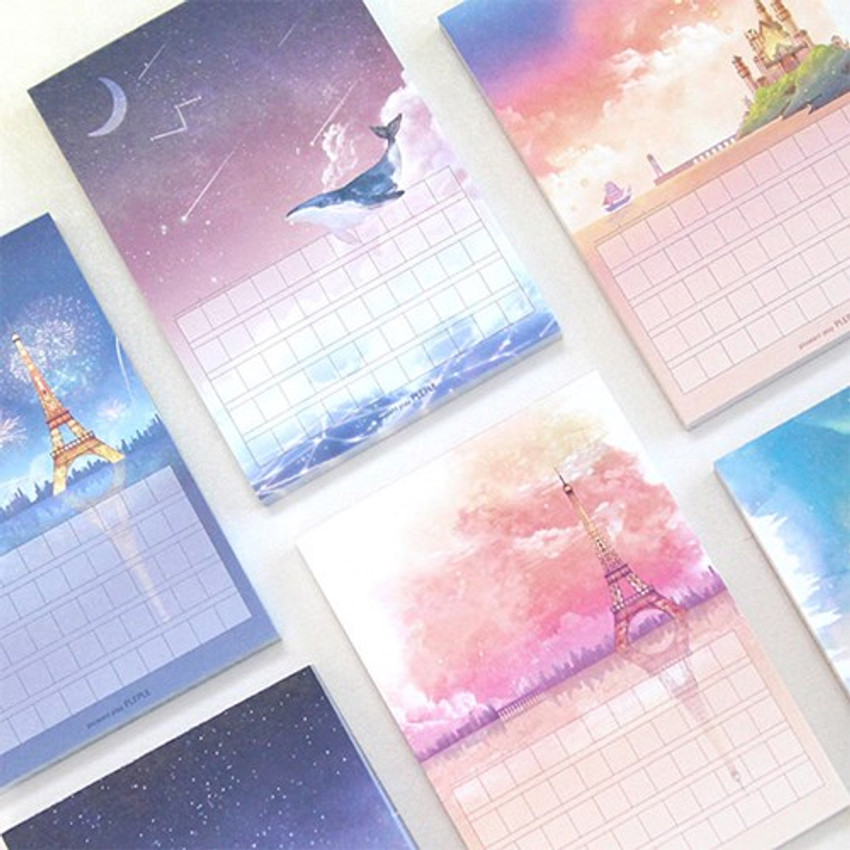 Pleple My story illustration squared manuscript memo notepad
