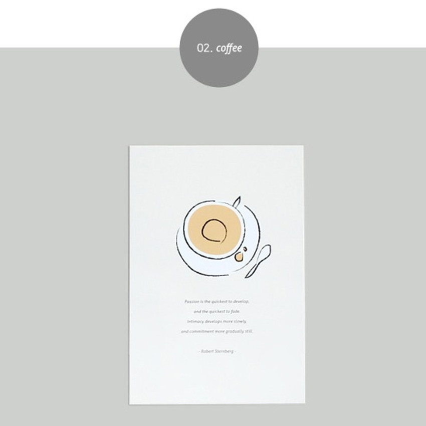 Coffee - Dash and Dot Ordinary illustration message postcard