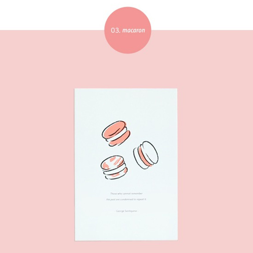 Macaron - Dash and Dot Ordinary illustration message postcard