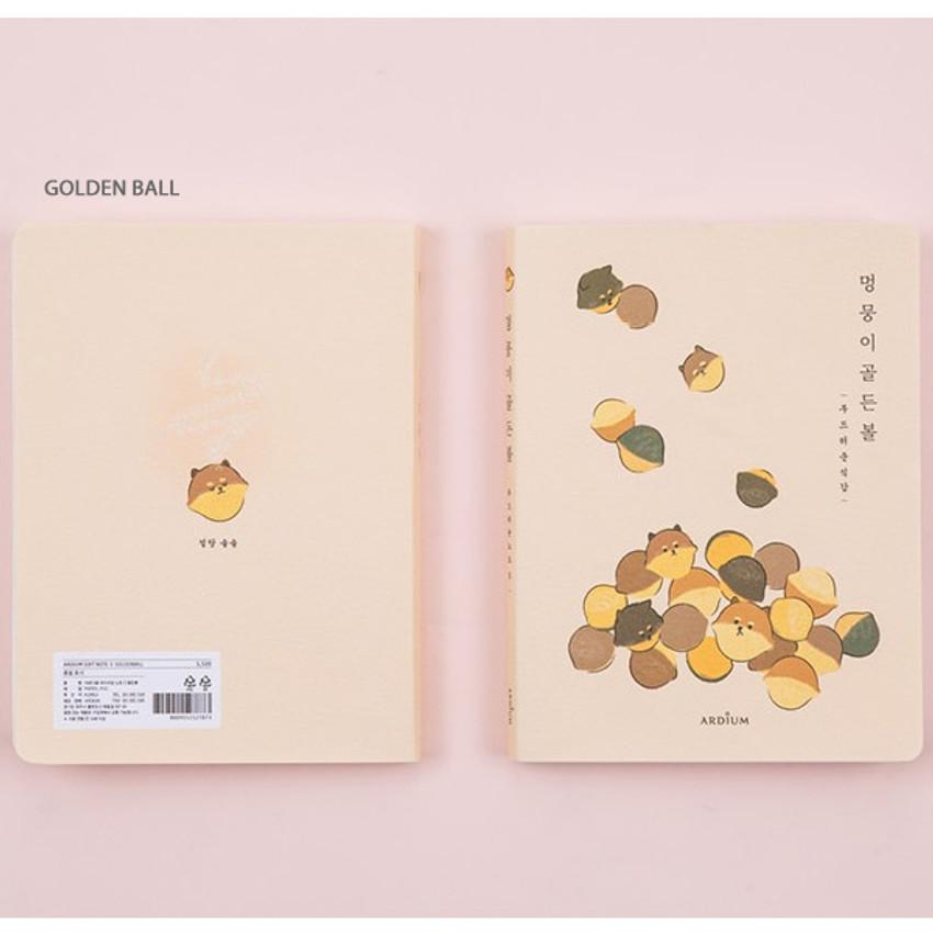 Golden ball - Ardium Write your ideas soft small lined notebook