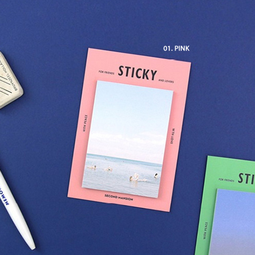 Pink - Second Mansion Yolo sticky it memo note