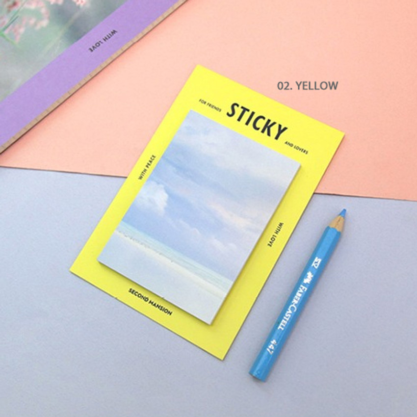 Yellow - Second Mansion Yolo sticky it memo note