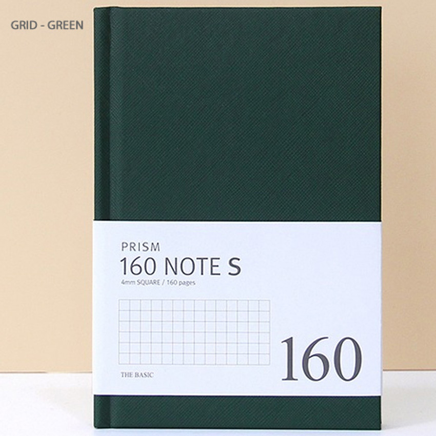 Green - Indigo Prism 160 pages small lined grid notebook