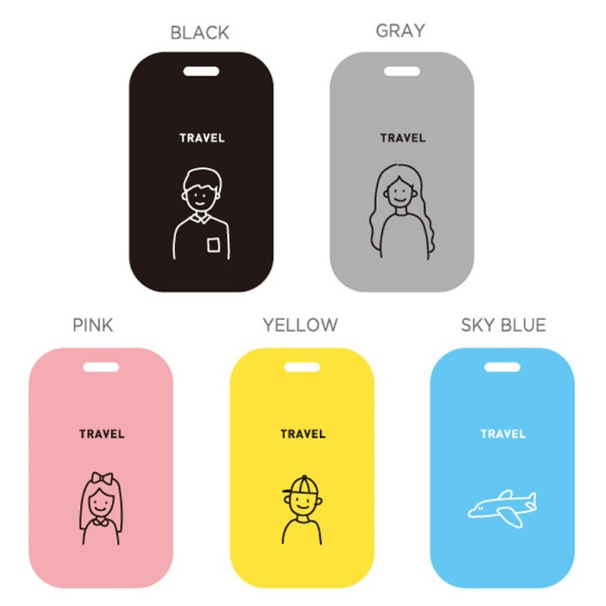 Color - gyou Memory the moment simple travel luggage name tag