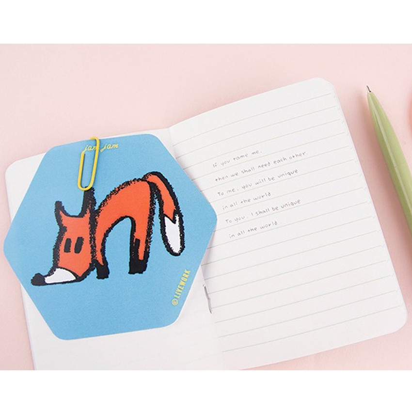 Plain and lined notebook