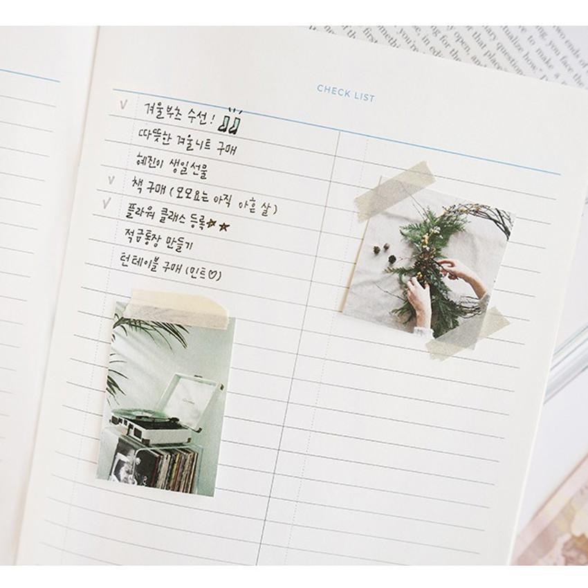 Checklist - PAPERIAN Value simple cash book planner scheduler