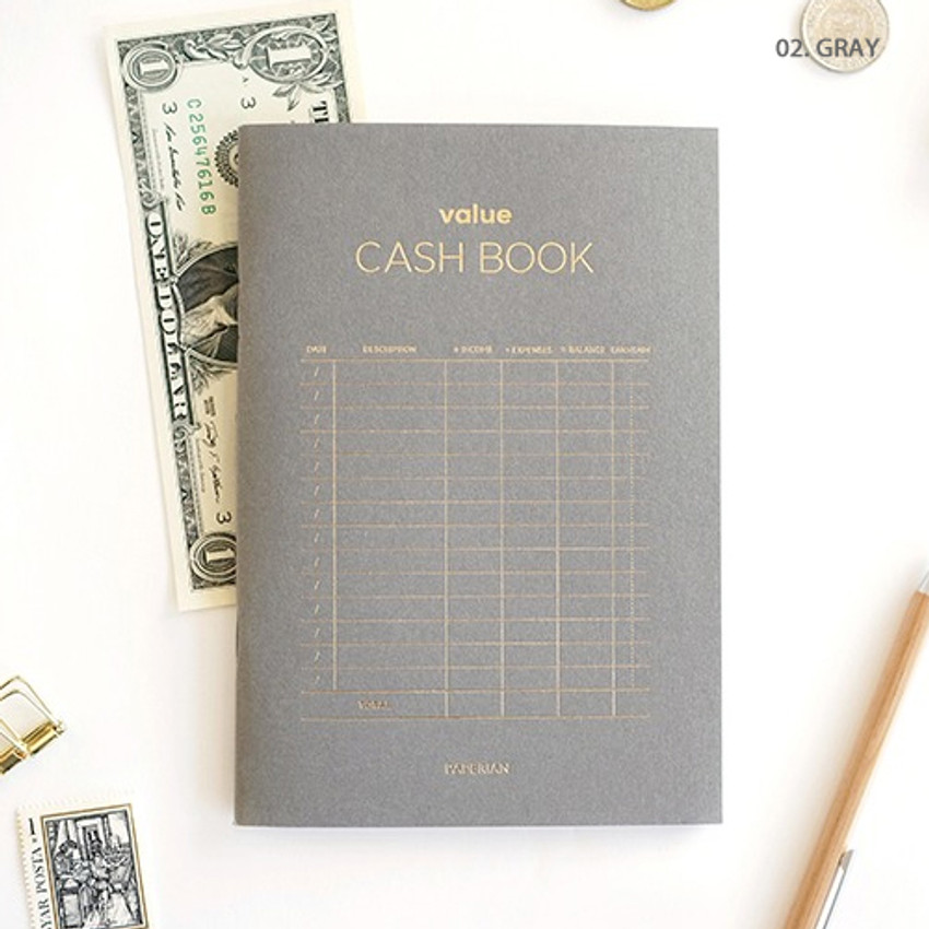 Gray - PAPERIAN Value simple cash book planner scheduler