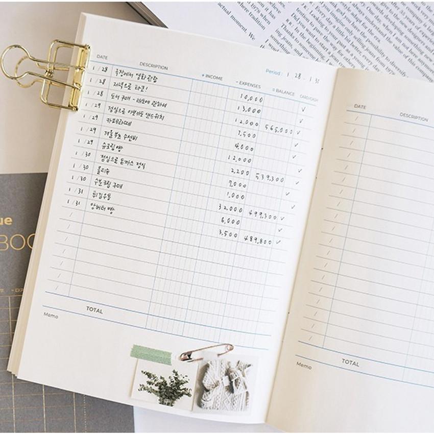 Cash flow - PAPERIAN Value simple cash book planner scheduler