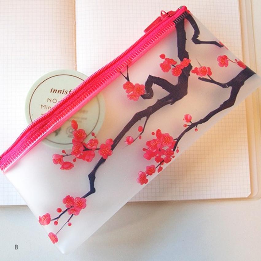 B - N.IVY Hongmaehwa clear zip lock multi pouch