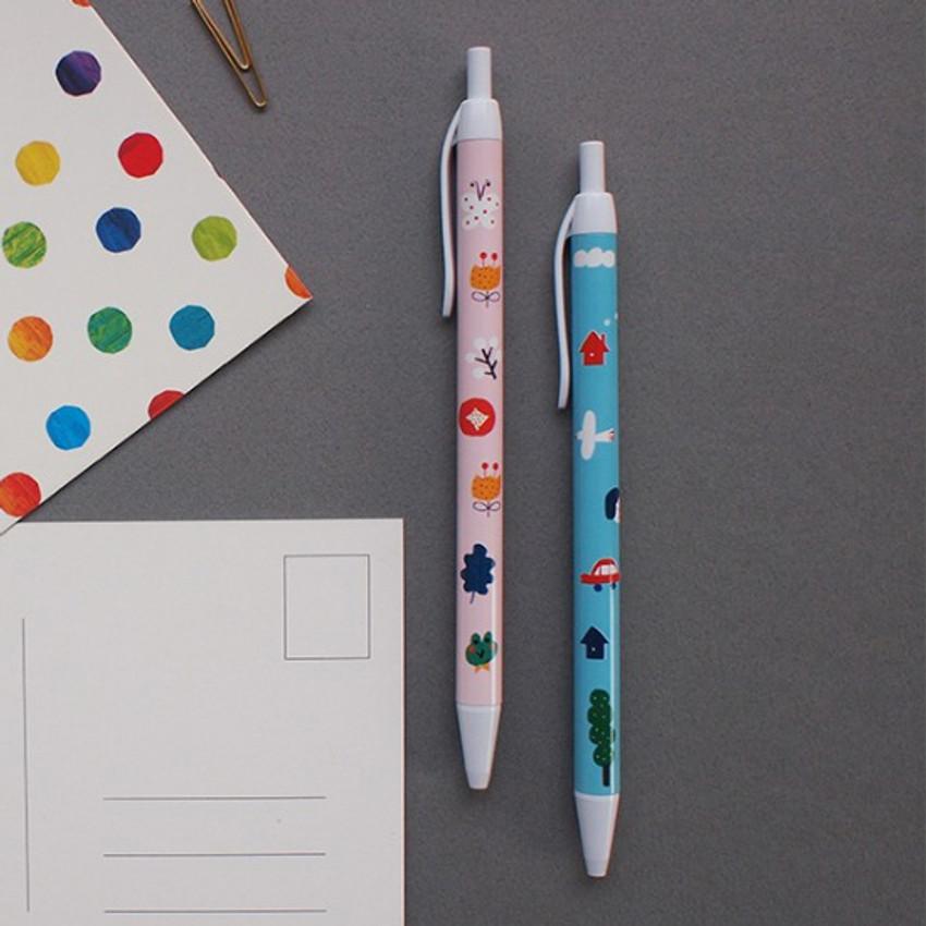 Hello Today Sunshine blanket retractable black ballpoint pen 0.38mm