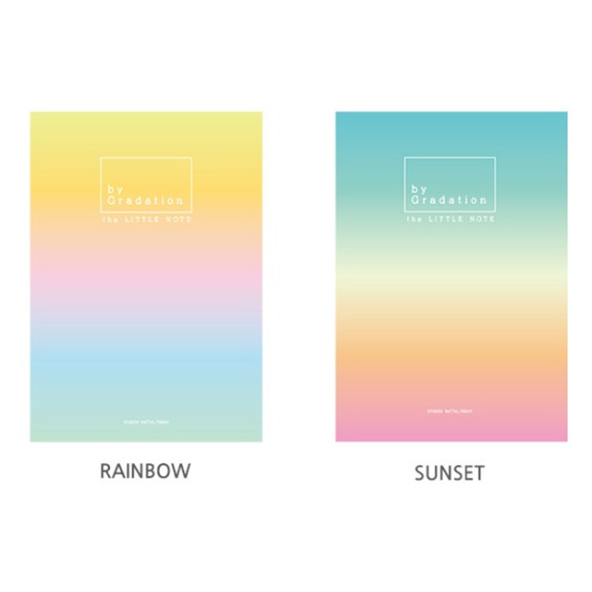 Option - Hello Today Gradation small plain and lined notebook