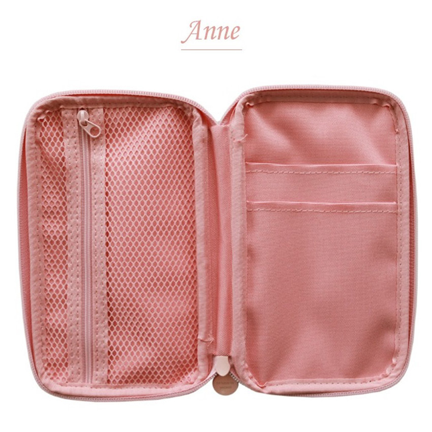 Anne - Indigo Classic story illustration zip around pencil case pouch