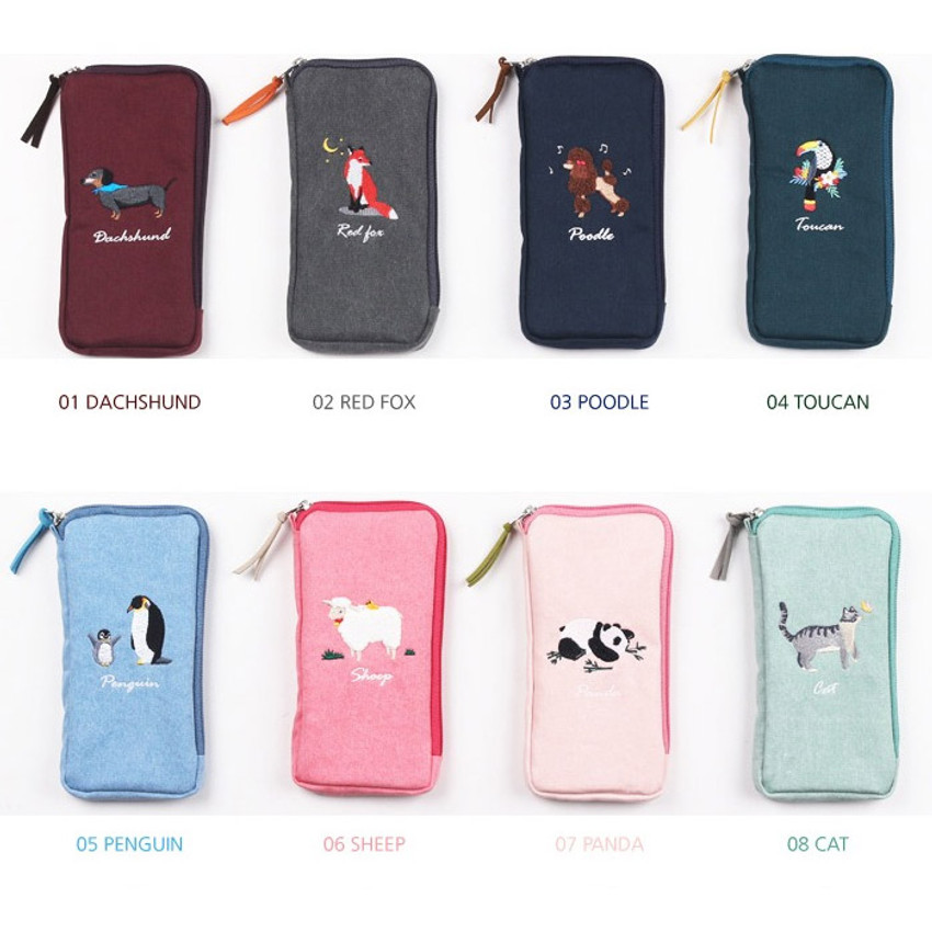 Option - Wanna This Tailorbird half zip around slim multi pouch