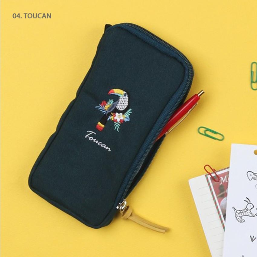 Toucan -Wanna This Tailorbird half zip around slim multi pouch