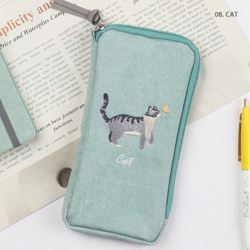 Cat - Wanna This Tailorbird half zip around slim multi pouch