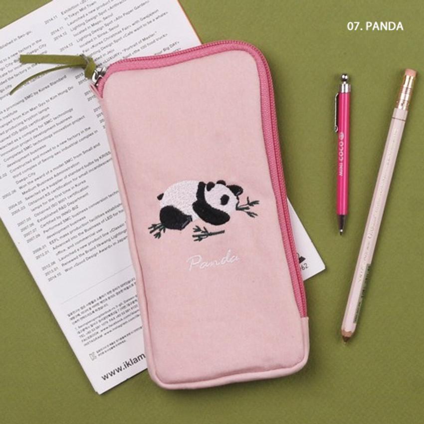 Panda - Wanna This Tailorbird half zip around slim multi pouch
