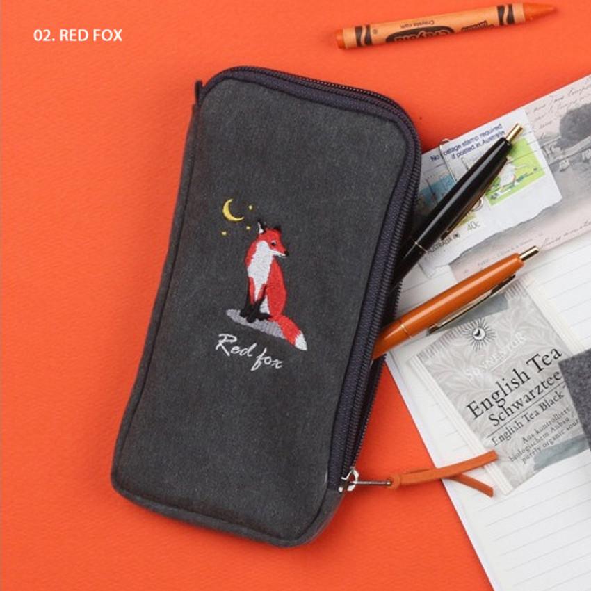 Red fox - Wanna This Tailorbird half zip around slim multi pouch