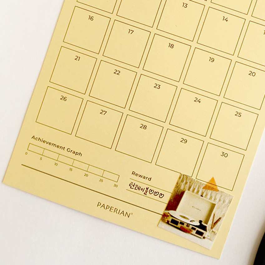 Detail of 30 days goal planning tracker 12 sheets