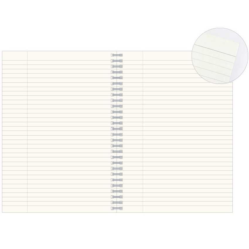 Ruled page - Indigo Classic story spiral bound lined notebook