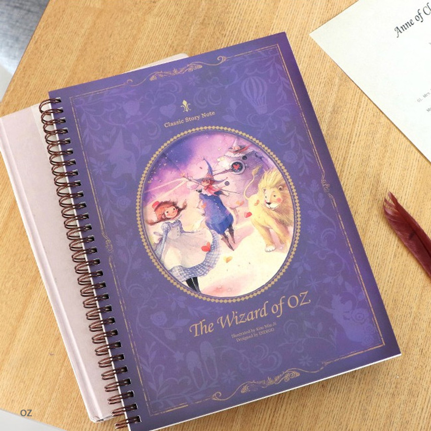 OZ -  Indigo Classic story spiral bound lined notebook