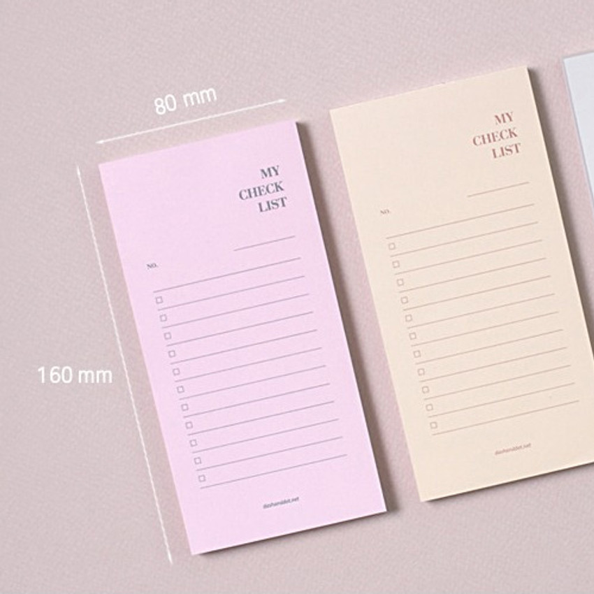 Size - Dash and Dot My checklist notepad